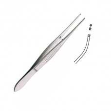 Dissecting Forceps half curve, delicate  1 X 2 TEETH 12CM