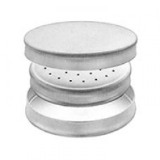 Needle case Ø 65 mm x 15 mm, 18/8 stainless steel