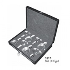 Stainless Steel Impression Trays Set of Eight