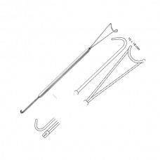 MASING RETRACTOR, 20CM, WITH GUIDE CHANNEL, 10X18MM