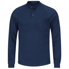 BULWARK LONG SLEEVE HENLEY SHIRT IN MODACRYLIC
